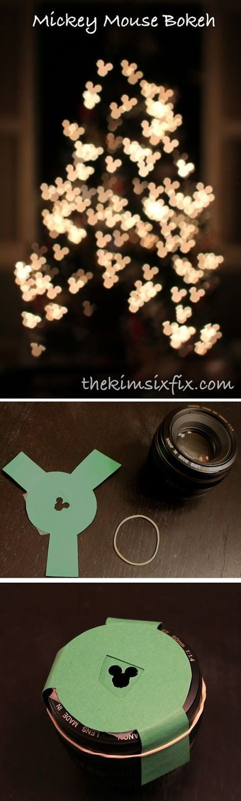 Mickey Bokeh for Night Photography at Disney World - Step-by-step instructions on how to make one for your camera