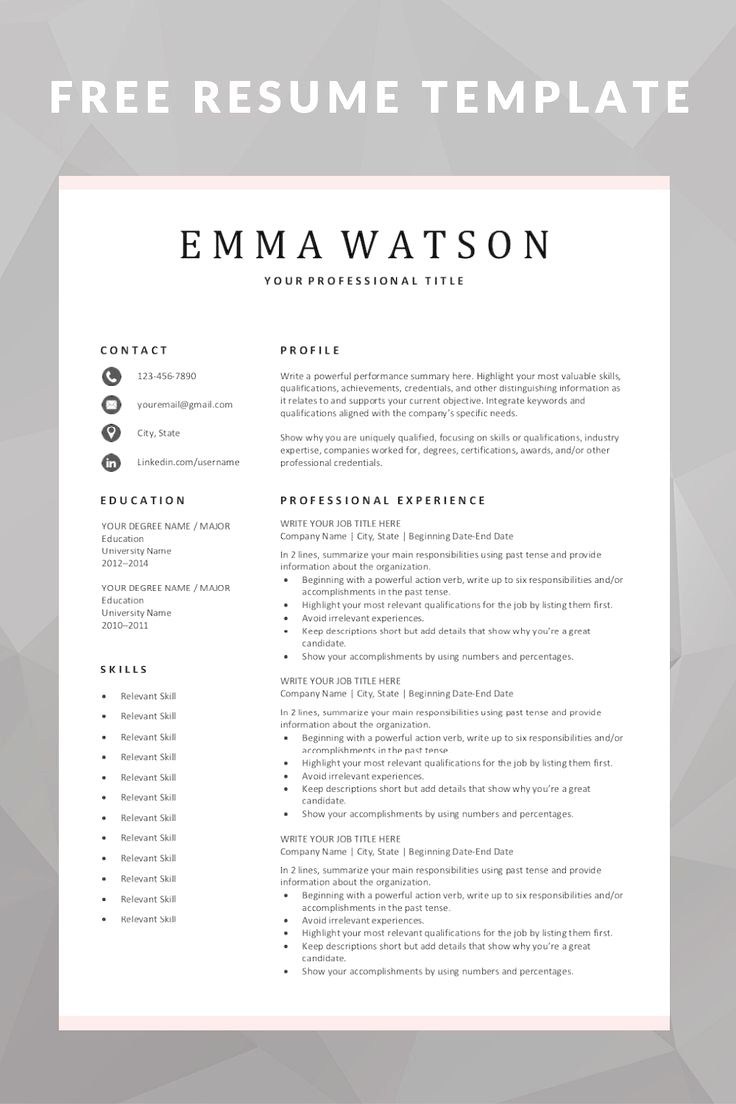 50 Best Resume Templates In 2020 Downloadable Resume Template Resume Template Free Free Resume Template Download