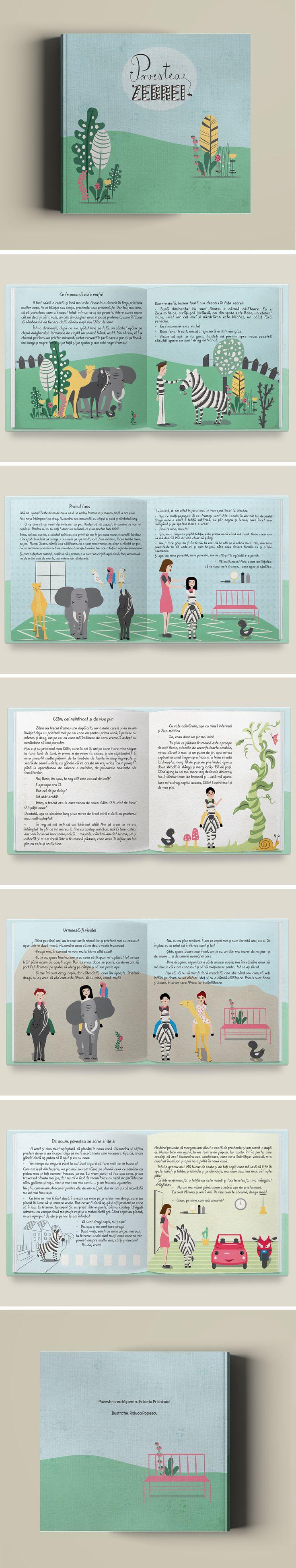 The story of a zebra- book illustration