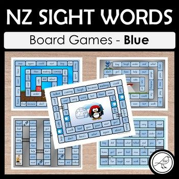 NZ sight words - Blue - BOARD GAMES A set of 5 colourful and engaging board games for your students to practise their sight words at the Blue level. Sight words are read when the player lands in that square. Some games have an endpoint (where players reach the 'finish') and some games are ongoing until the allocated time is up, or