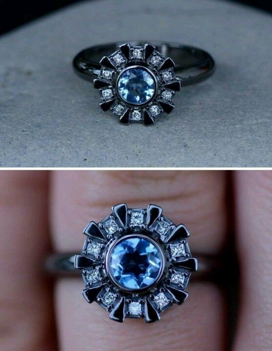 Arc Reactor engagement ring. Shut the fuck up right now.