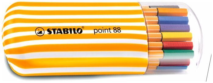 Crayon feutre Stabilo, série Point 88 pour le détail