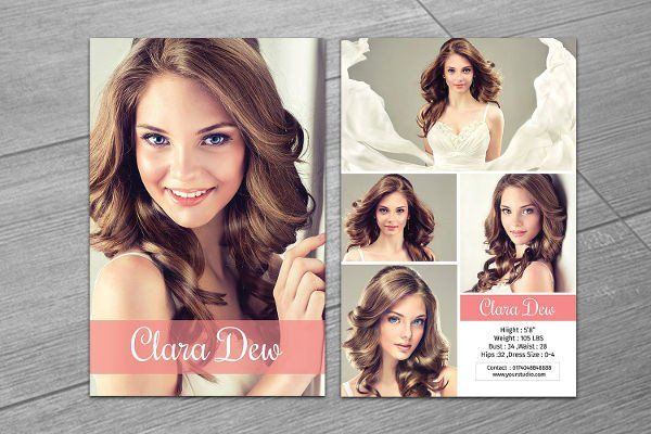 Composite Cards For Modeling Template New 8 P Card Templates Free Sample Example Format Model Comp Card Card Templates Free Card Template