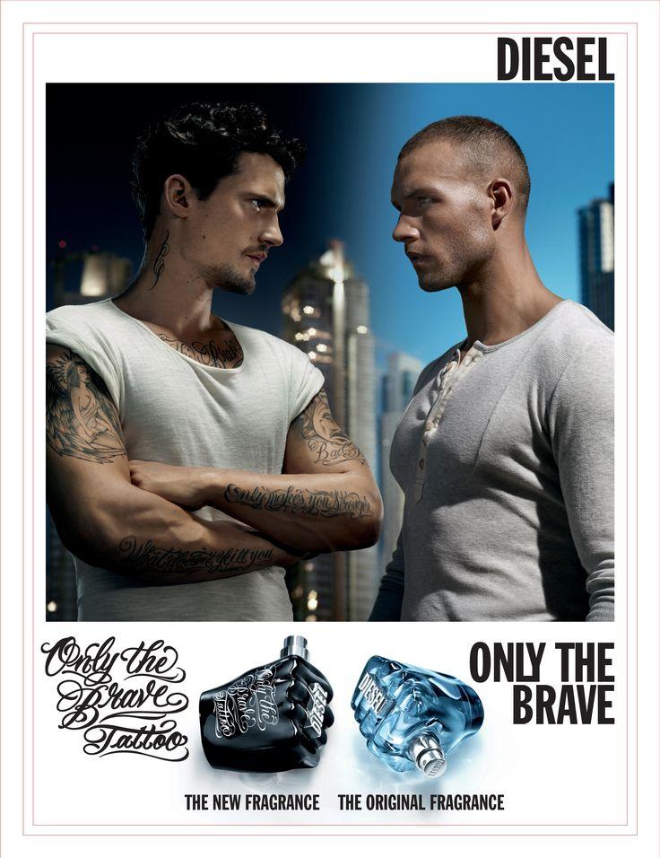 diesel only the brave tattoo fragrance ads pinterest. Black Bedroom Furniture Sets. Home Design Ideas