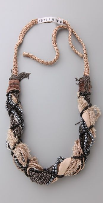 alice + olivia Twisted Beaded Necklace