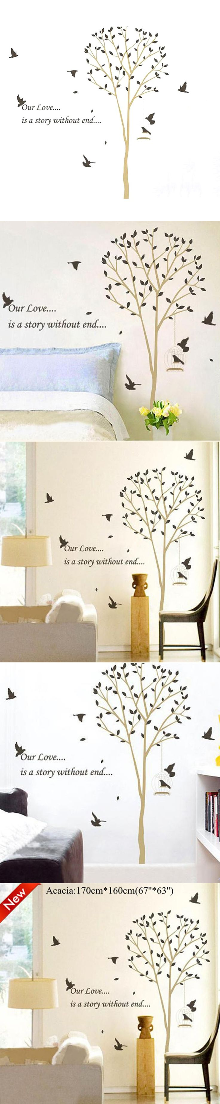 best 20 brown wall stickers ideas on pinterest door stickers xl170 160cm our love is a story without end brown tree wall stickers for livingroom bedroom wall decal mural home decor zy9055