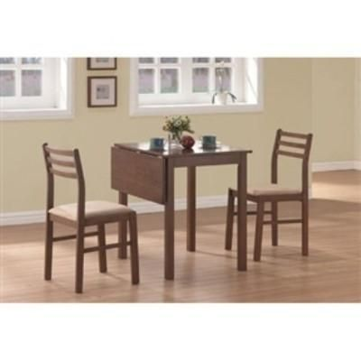 This Drop Leaf Square Dining Set In Walnut Finish Offers Classic Styling  That Will Blend With Any Decor. The Table Features A Solid Top Drop Leaf,  St.