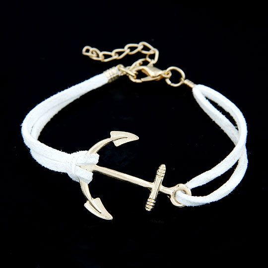 Anchor Bracelets for Women Men Jewelry Bijoux 2017 Fashion Rope 8 Leather Charm Bracelets  Bangles Vintage Wrap Pulsera Mujer Like if you are Excited! Visit us