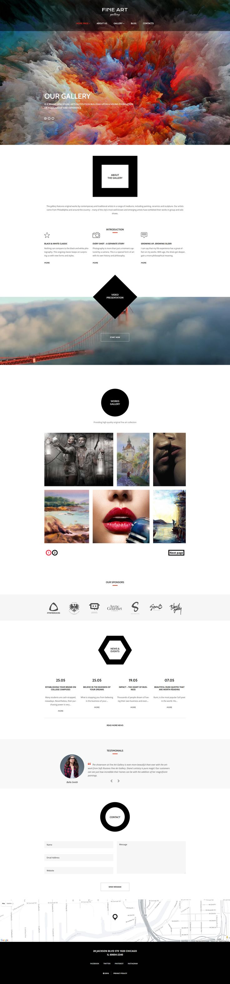 Art Gallery Responsive WordPress Theme #56092