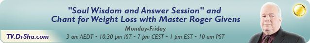"""Join """"Soul Wisdom & Answer Session"""" and chant for #weightloss with Master Roger Givens 1pm EST / 10am PST http://tv.drsha.com/nav.action?static=&pg=how#.U3QVtF6o9G4"""