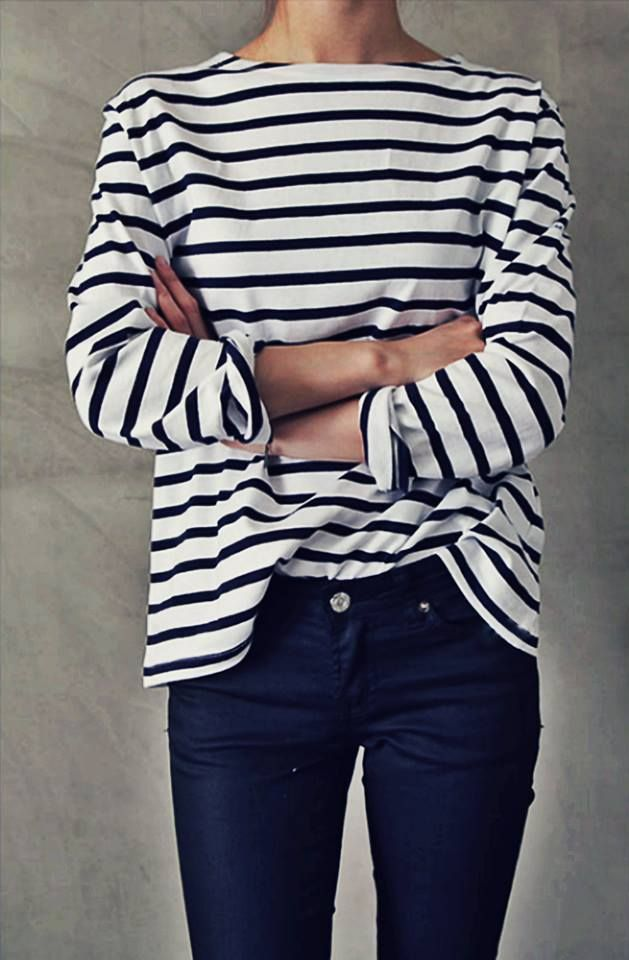 A year-round wardrobe staple, the striped tee.