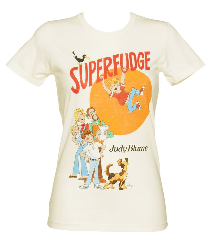 Ladies Ecru #Superfudge By Judy Blume #Book Cover T-Shirt from Out Of Print xoxo