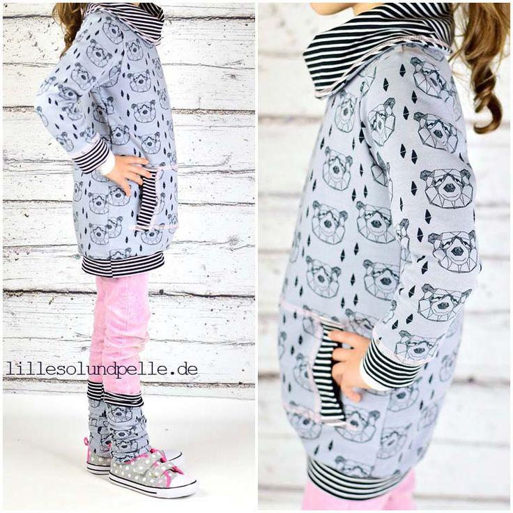 lillesol & pelle Schnittmuster/ pattern: Mix aus Pulli mit Cardigankragen und Kleid mit Rollkragen