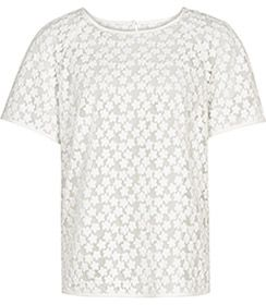 Womens Ivory Floral Jacquard Top - Reiss Norico
