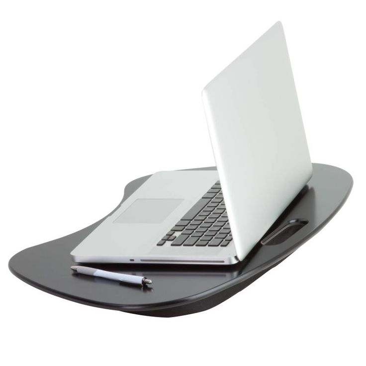 Honey-Can-Do TBL-02869 Portable Laptop Desk with Handle Black Home Office Desks & Hutches Laptop Stand