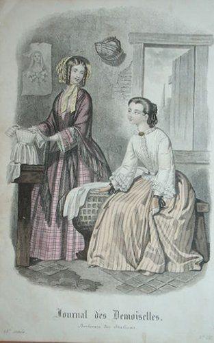 1846. day dresses, November, Journal des Demoiselles