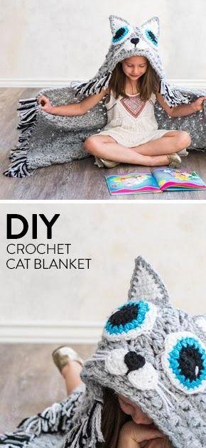 Quick and Bulky Cat Blanket Crochet Kit
