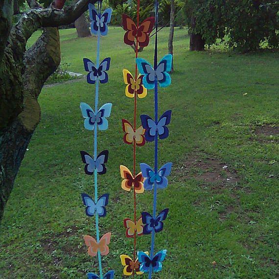 Guarda questo articolo nel mio negozio Etsy https://www.etsy.com/it/listing/540852037/filo-di-farfalle-in-tessuto-plastico-con