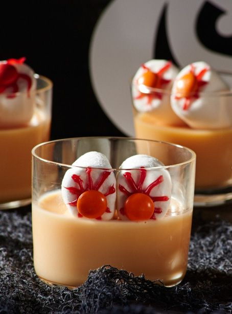 ein gruseliges dessert f r halloween oder einen kindergeburtstag halloween rezepte pinterest. Black Bedroom Furniture Sets. Home Design Ideas