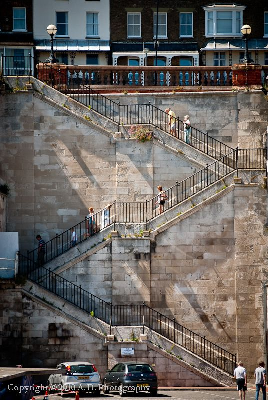 Jacob's Ladder, Ramsgate Seafront, Kent, built in 1826 by John Shaw easiest way to the seafront... stairway to heaven, actually.