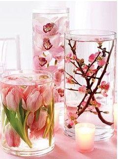 Świat Blondynki: DIY: Jak zrobić wiosenną dekoracje (kwiaty pływające w wodzie)