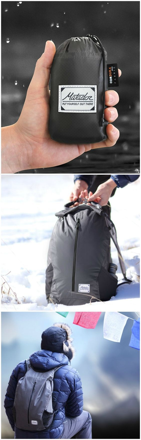 Matador FreeRain24 packs away to fit in the palm of your hand and unpacks into a 24 Liter backpack with a waterproof main compartment. @aegisgears