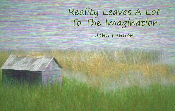 Reality Art Print by Leslie Montgomery.