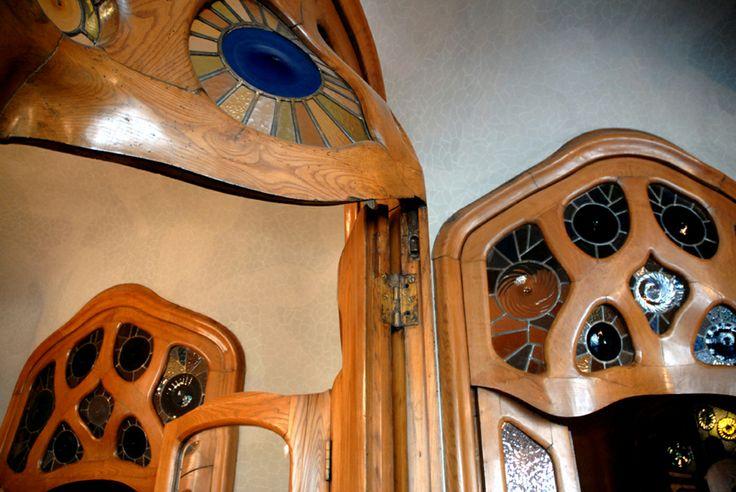 Casa Batlo.Barcelona Spain. Concave Convex doors.Mind blowing. Antoni Gaudi