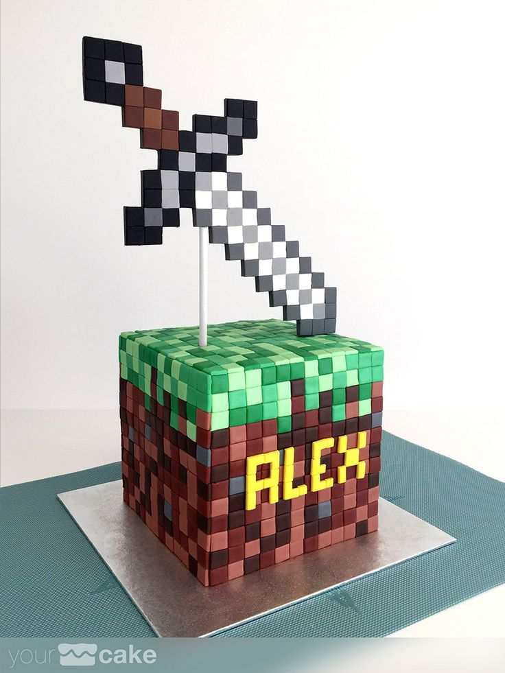 Your Cake. Tarta Minecraft