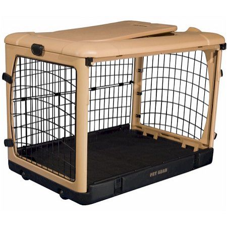 Deluxe Steel Dog Crate With Pad - Medium Dog Crates Pet Animal Supplies
