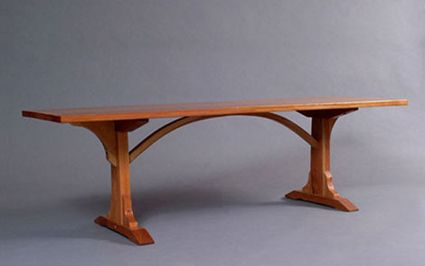 braced arch dining table - http://coldriverfurniture.com