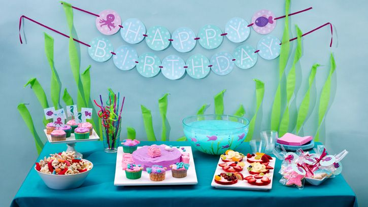 Under the Sea Birthday Party | Splish Splash, it's a birthday bash! Make it a memorable day of under-the-sea adventures for your child and little friends.