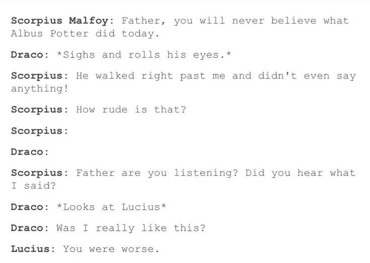 Aw i love this. Seriously I love that it shows that the Malfoys became a family after the battle at Hogwarts.