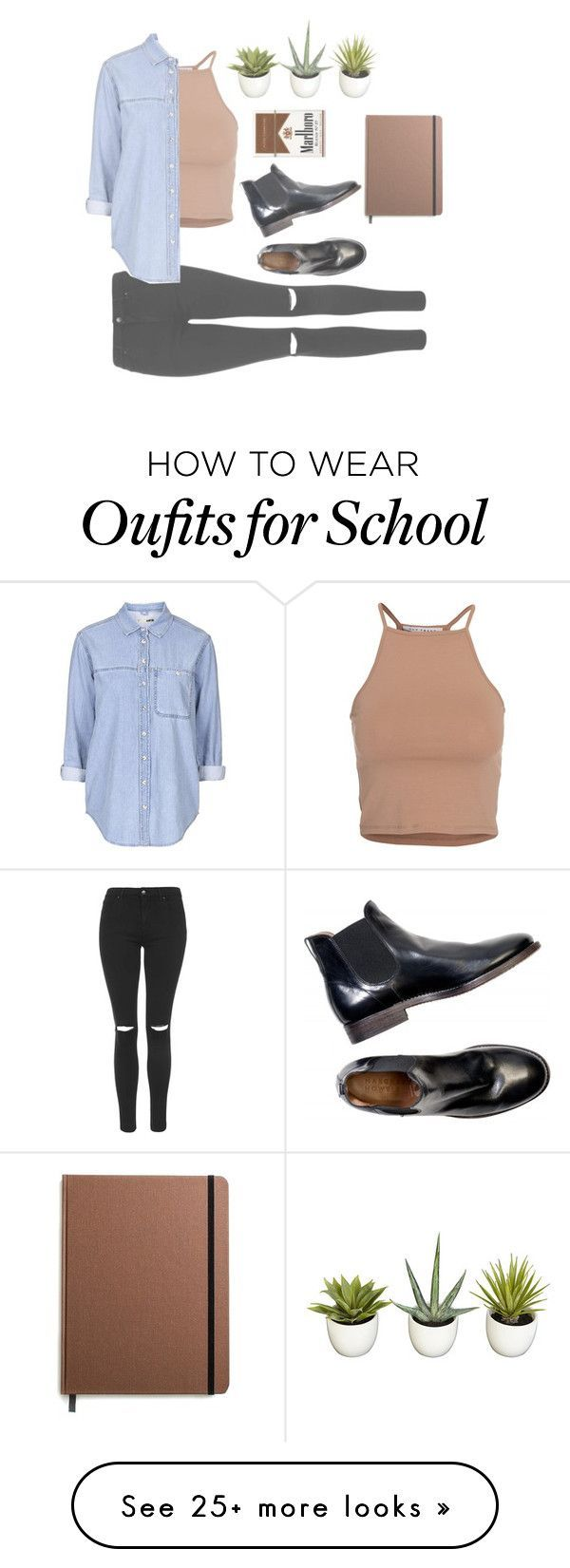 """""""school is boring"""" by natureisawhore on Polyvore featuring NLY Trend, Topshop and Shinola"""