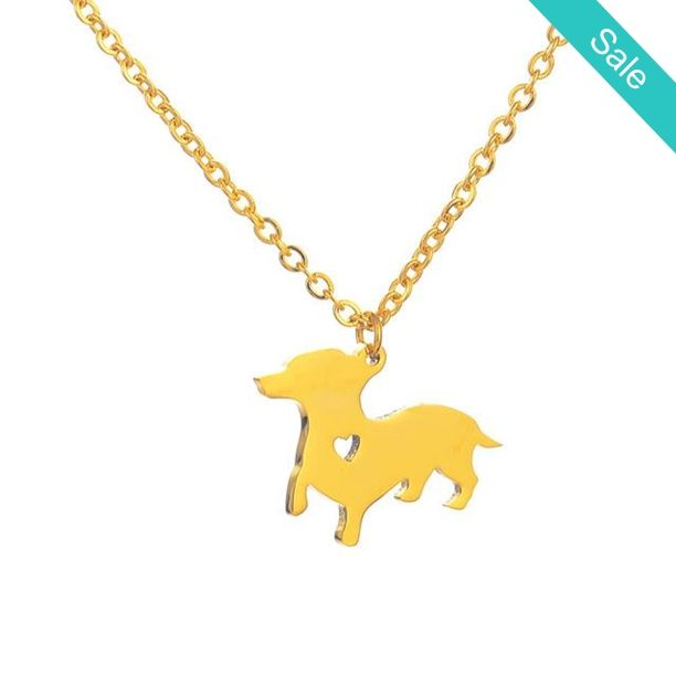 "Adorable Doxin Dachshund Puppy Dog Charm Dainty Necklace Silver or Gold Tone -    Style: Trendy Shape\pattern: Geometric Material: Metal Chain Length: 38cm 5cm Extended chain,15"" 2"" Extended Chain,can be adjustable  - On Sale for $10.99 (was $19.99)"
