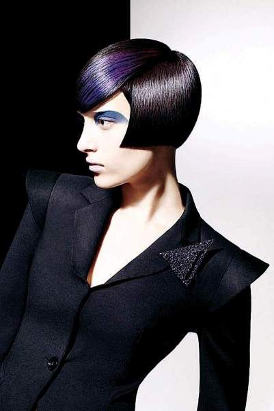 Vidal Sassoon black blue purple vidal sassoon hair