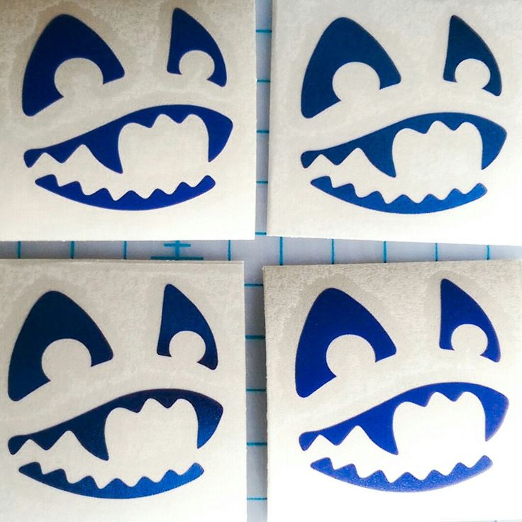 Our happy little toothy grin decal in dark blue raaaaar
