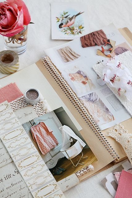 Book of dreams... Vision board... a collection of pretty things ... If you want to make it in a notebook or album
