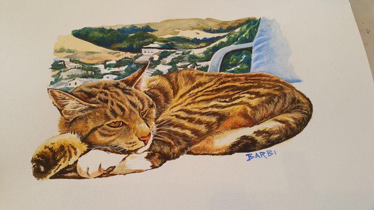 """Monty""  Acrylic on watercolour paper - Let me paint your best friend at www.furryfaces.co.nz"