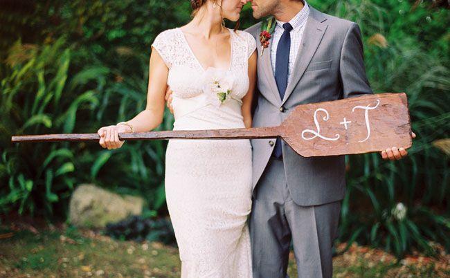 Rustic River Runs Through It Wedding: Lindsay + Thatcher by Amorology Weddings (wedding coordinator) + Jill Thomas Photography - via greenweddingshoes
