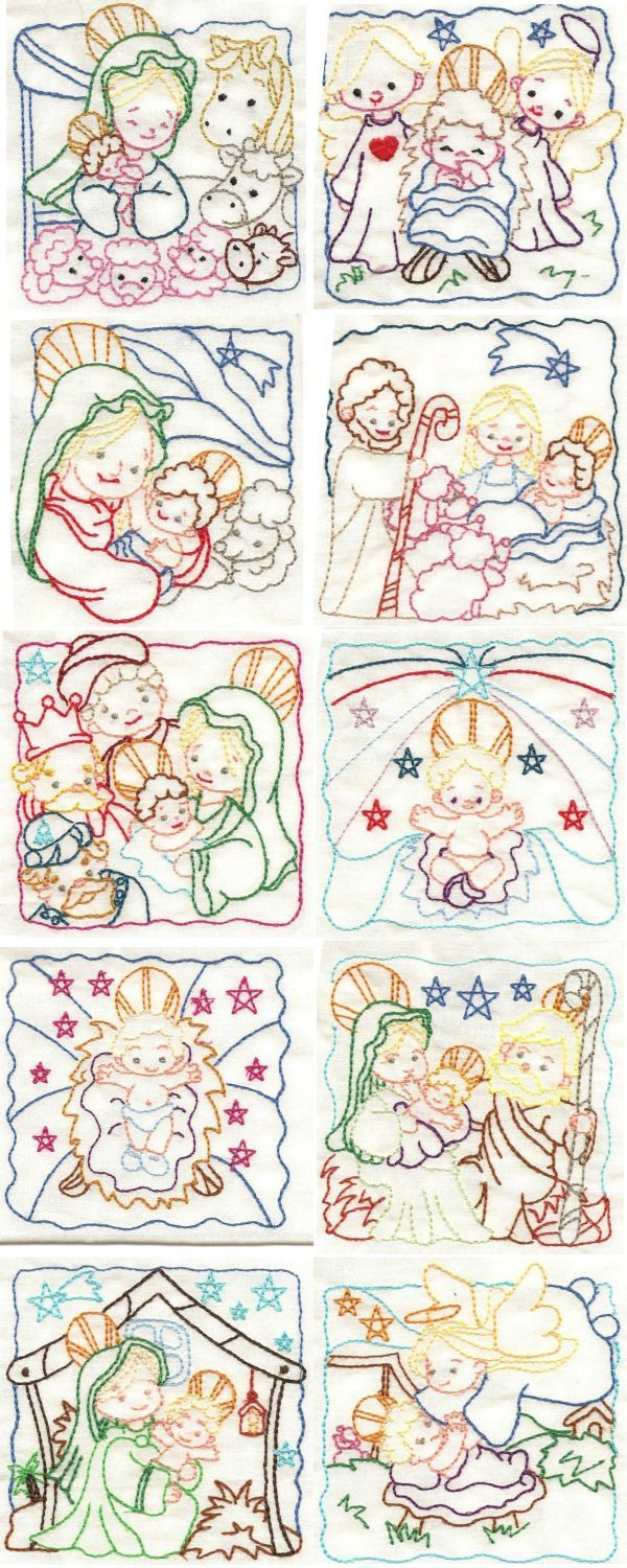 Nativity Color Work Embroidery Machine Design Details
