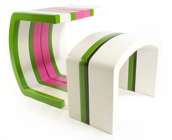 Flip tables in bespoke colour combinations , design Christopher Thomas for projectHOLO, available www.designermade.no