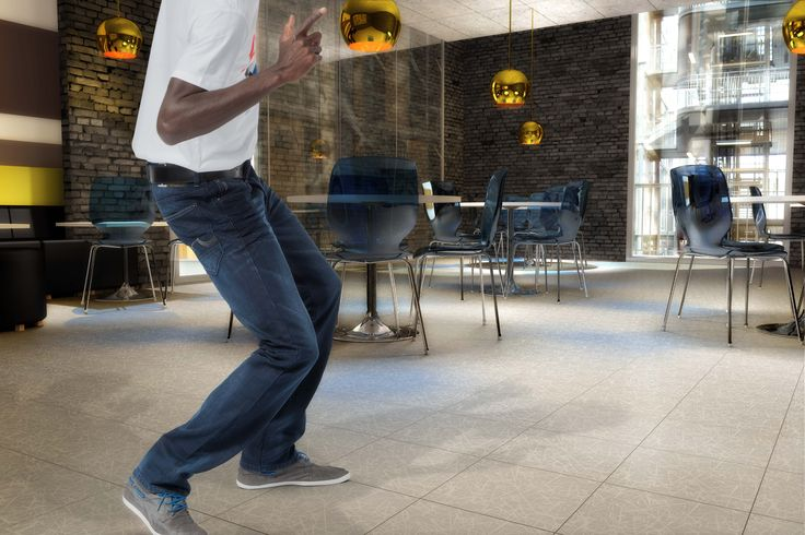 TOP TILE – a brand new flooring concept for public areas.  Make your own design from a photo or choose from our fancy collection.  Product: Top Tile Design: Scratch
