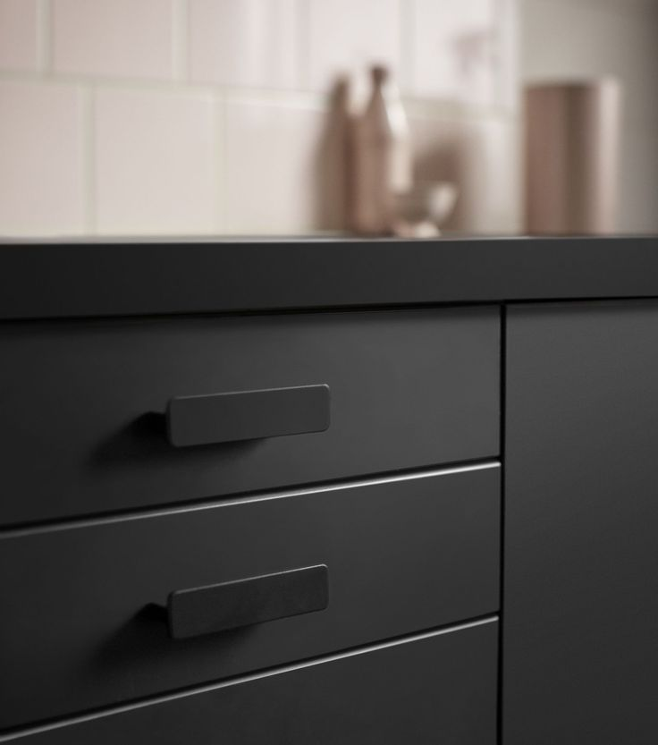 these ikea kitchen cabinets are made out of recycled materials - Ikea Black Kitchen Cabinets