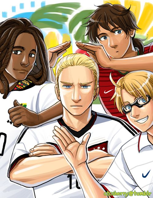 FIFA World Cup 2014: Ghana, Germany, Portugal, and the USA - Art by ctcsherry.tumblr.com