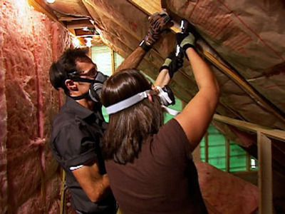 How to Finish Attic Walls and Ceilings : How-To : DIY Network