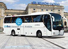 České dráhy, a.s. (ČD) | Busverbindung des ČD BUS nach Krakau
