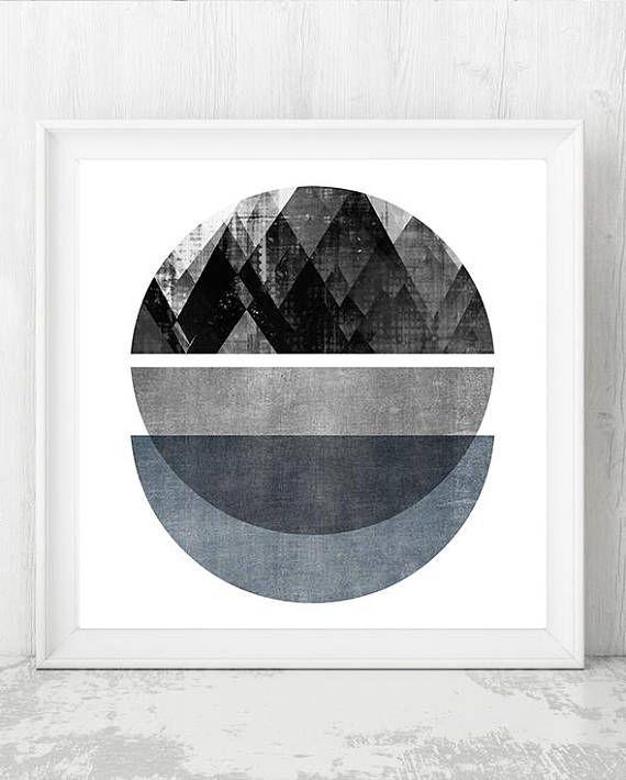 Scandi Style Large Black and White Canvas Print Minimalist Contemporary Art Abstract Geometric Art Nautical Photography Sailing