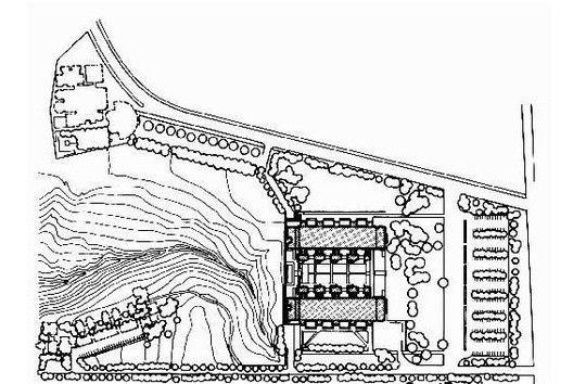 AD Classics: Salk Institute,Site Plan