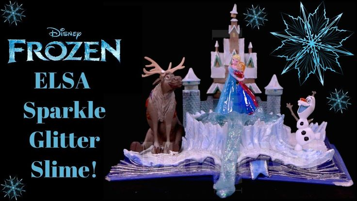 Diy How To Make Frozen Elsa Super Sparkle Glitter Slime Diy Disney Froz Disney Diy Disney Frozen Elsa Glitter Slime